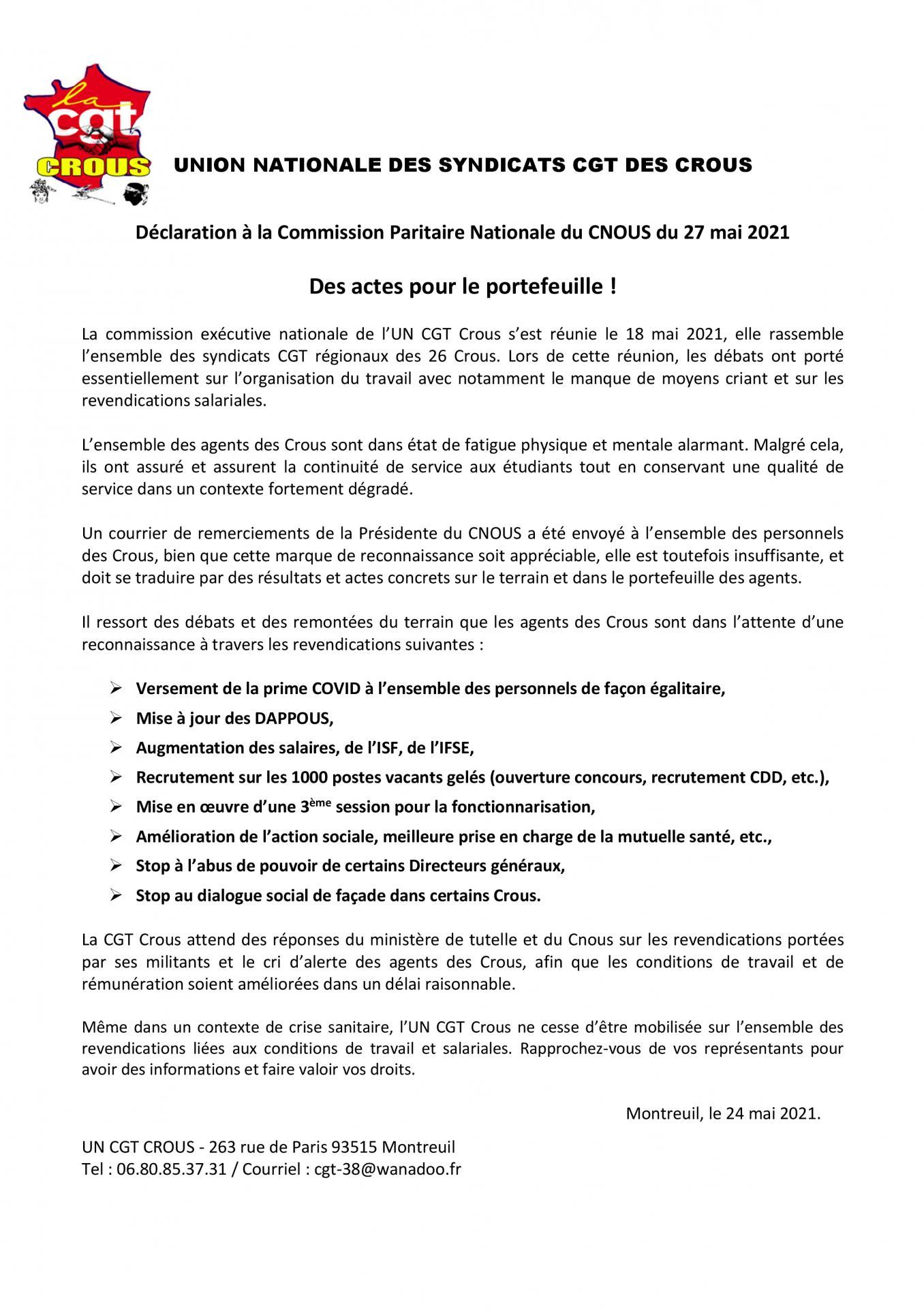 Declaration cpn 27052021